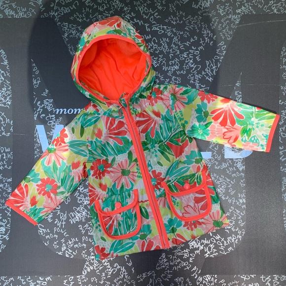 be5b08d53 Cat & Jack Jackets & Coats | New Toddler Girl Floral Raincoat So ...